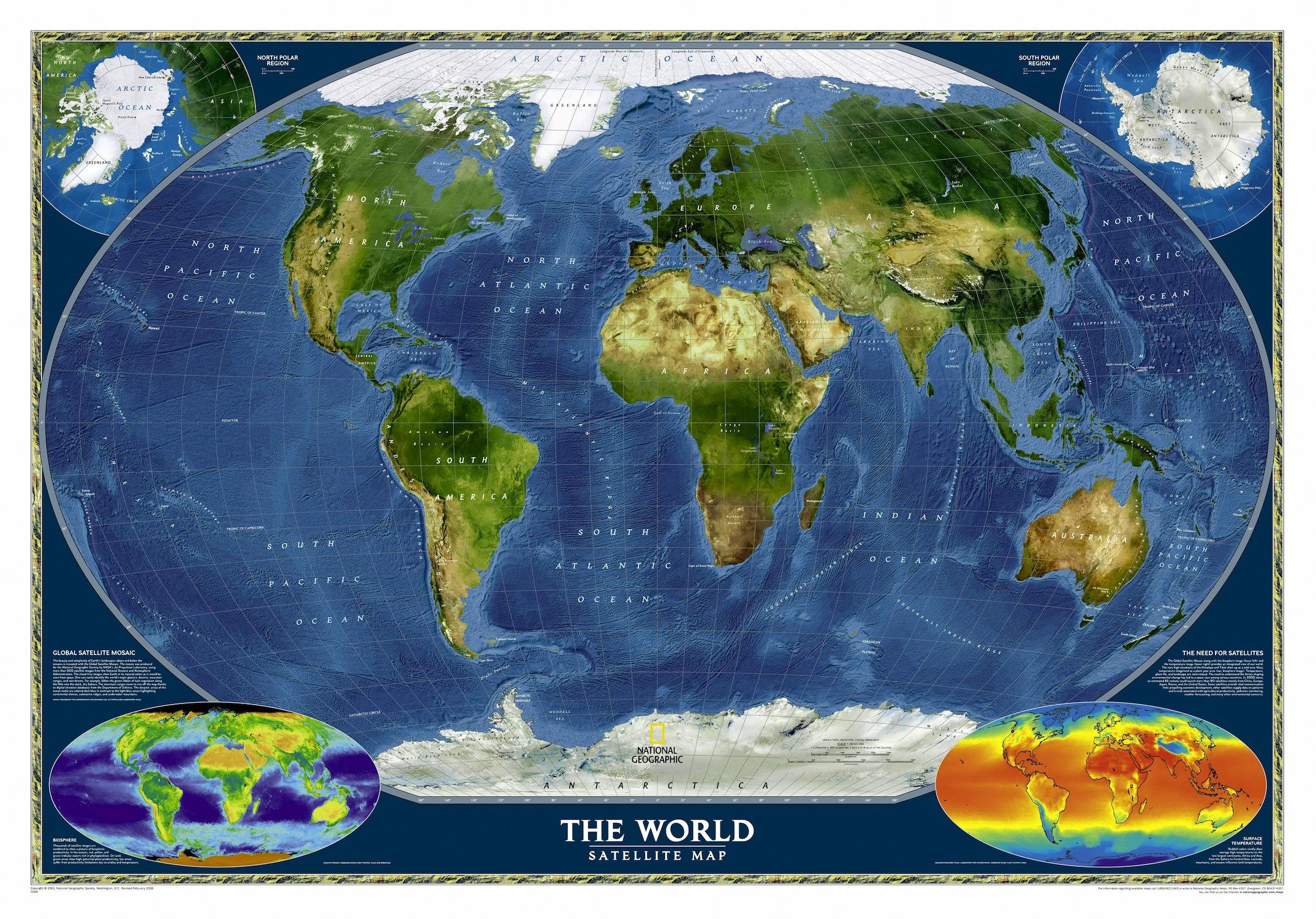Terre depuis l'espace papier peint 3d