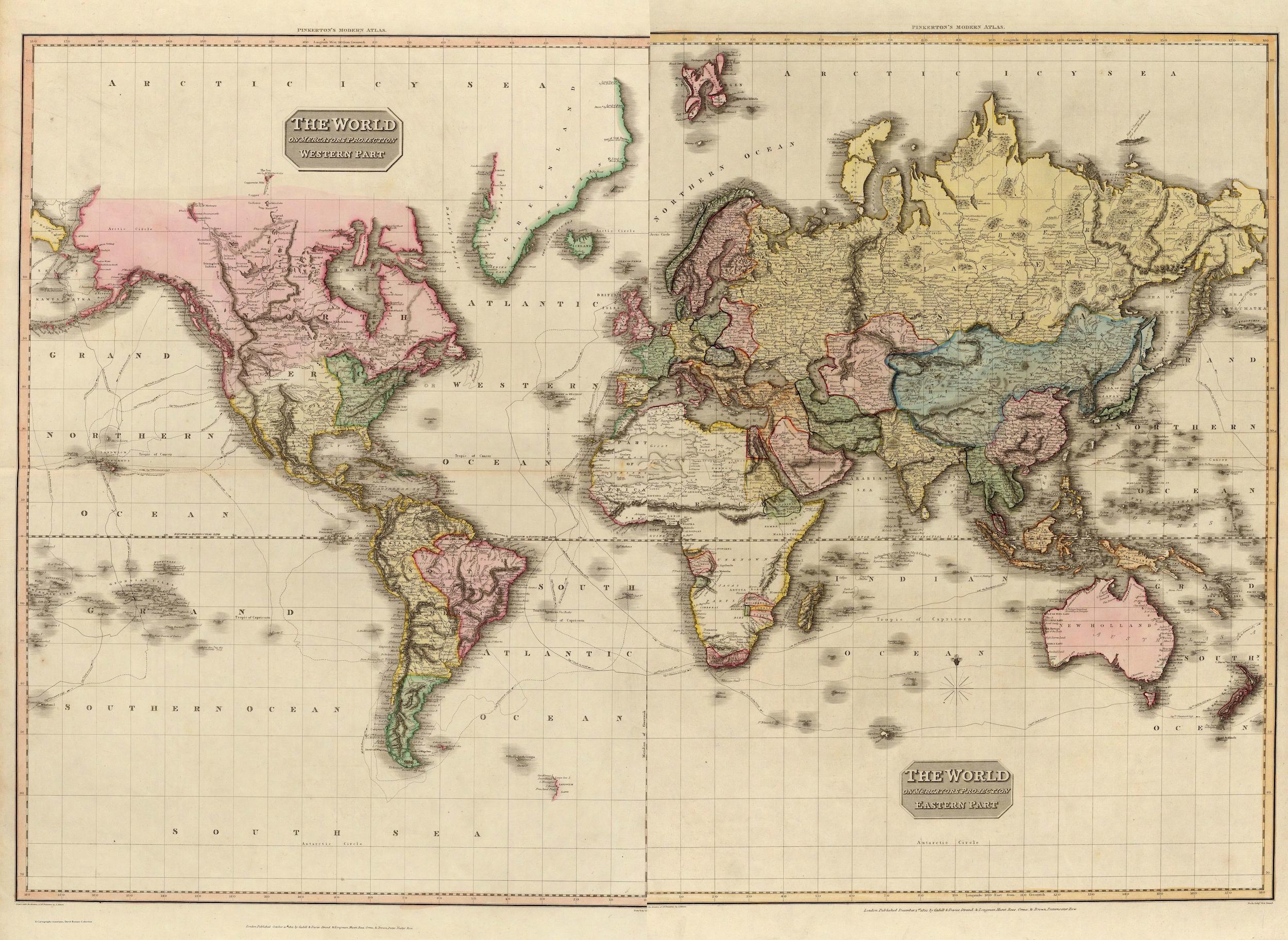 1800 carte du monde papiers peints photo