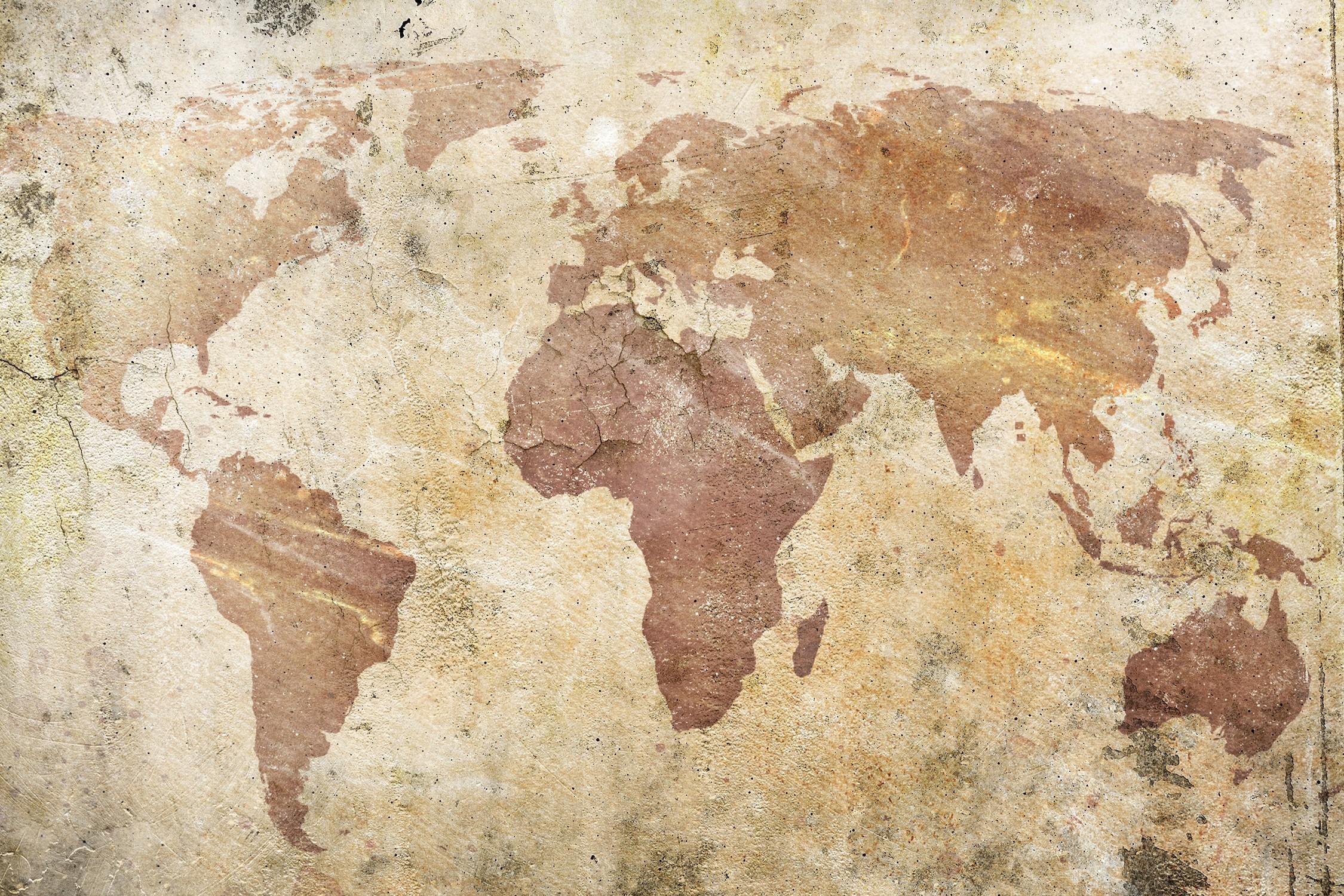 Monde du mur papier peint 3d