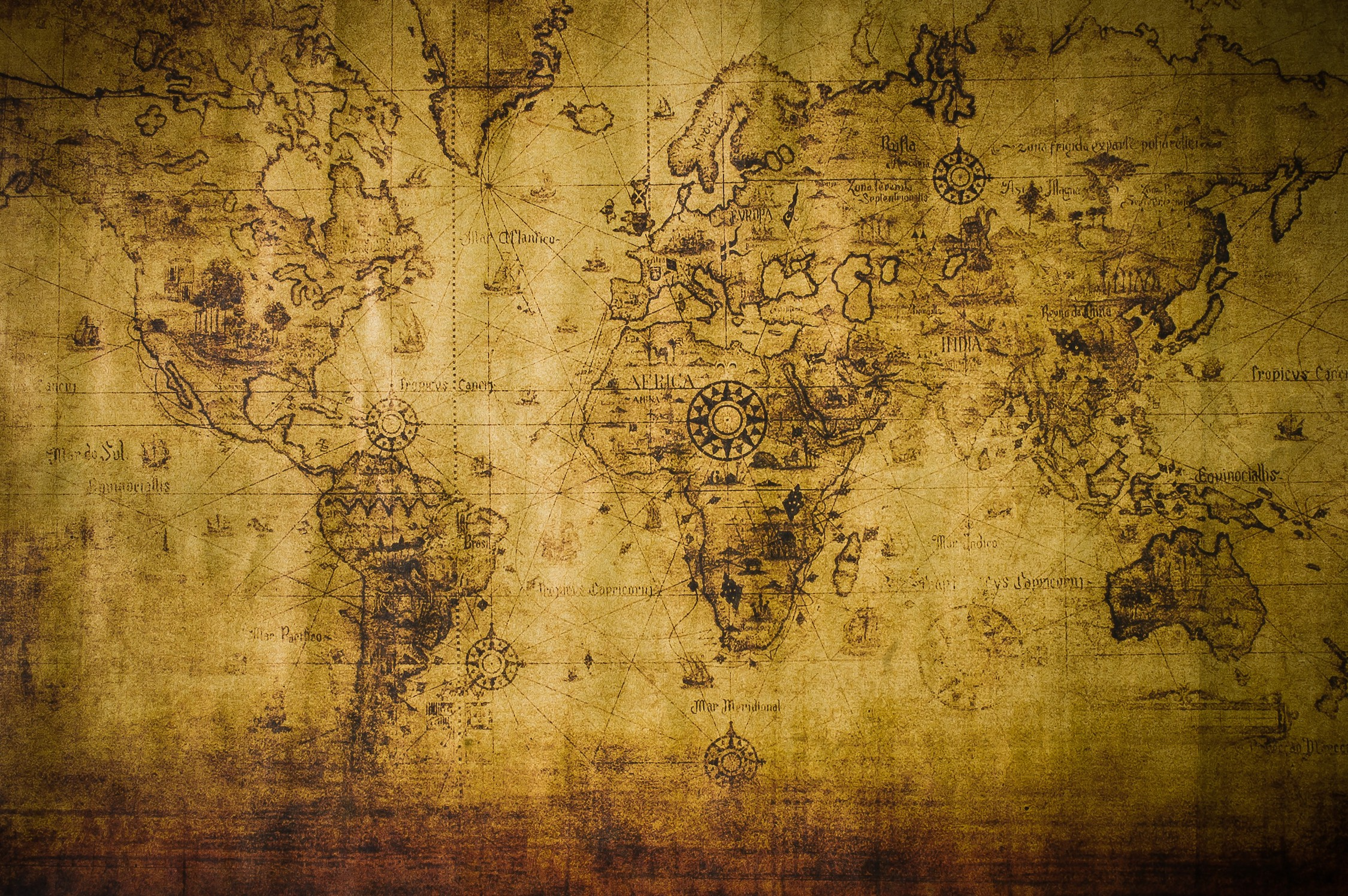Monde géologique historique papier peint