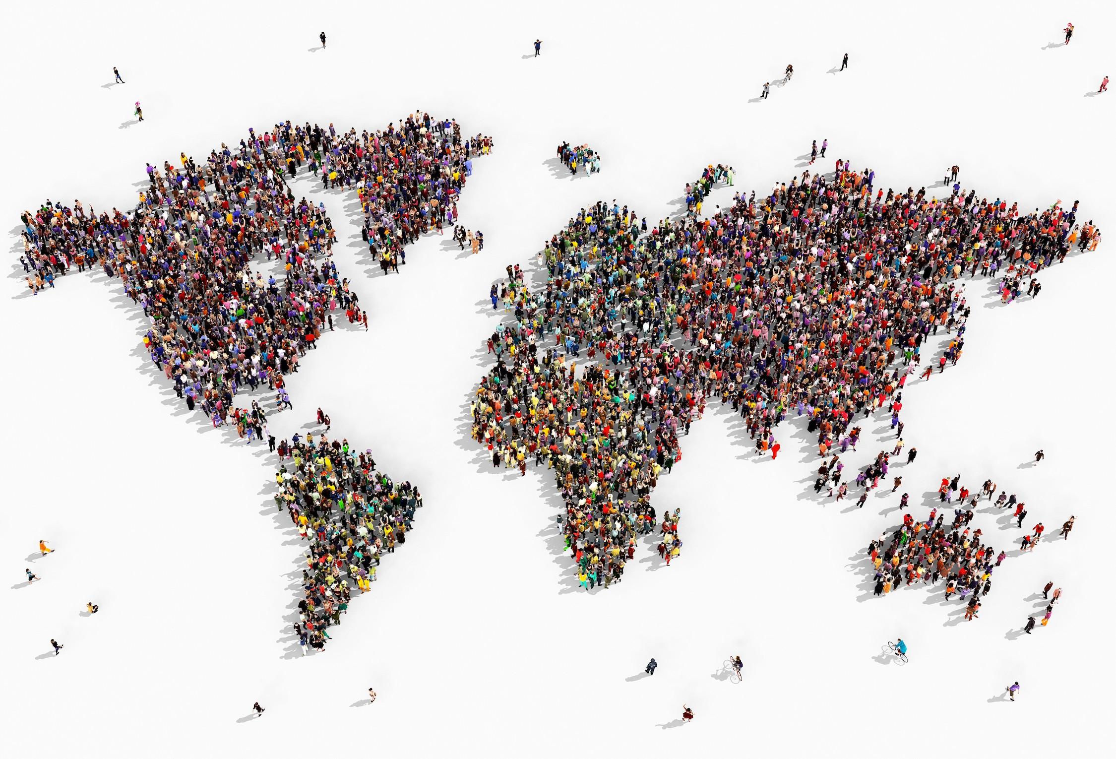 Les gens unissent le monde tapisserie