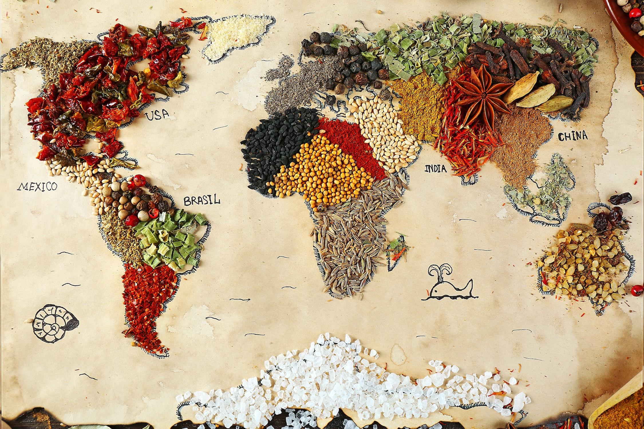 Monde des noix et des épices decoration murale