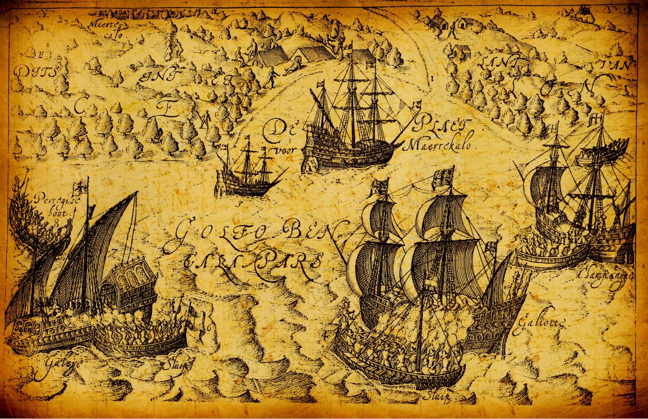Navires pirates historiques tapisserie murale