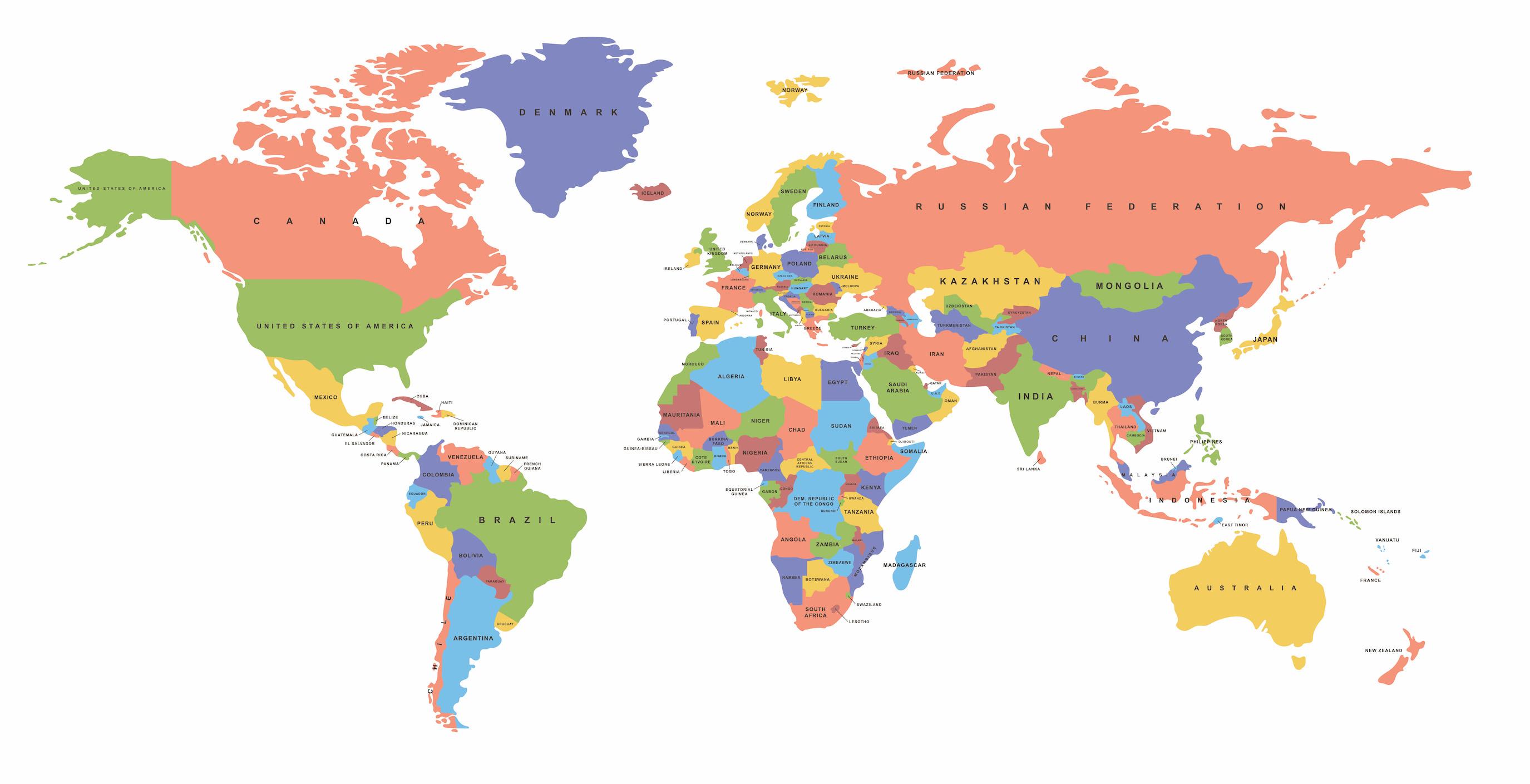 Carte du monde avec bordures ovales decoration murale