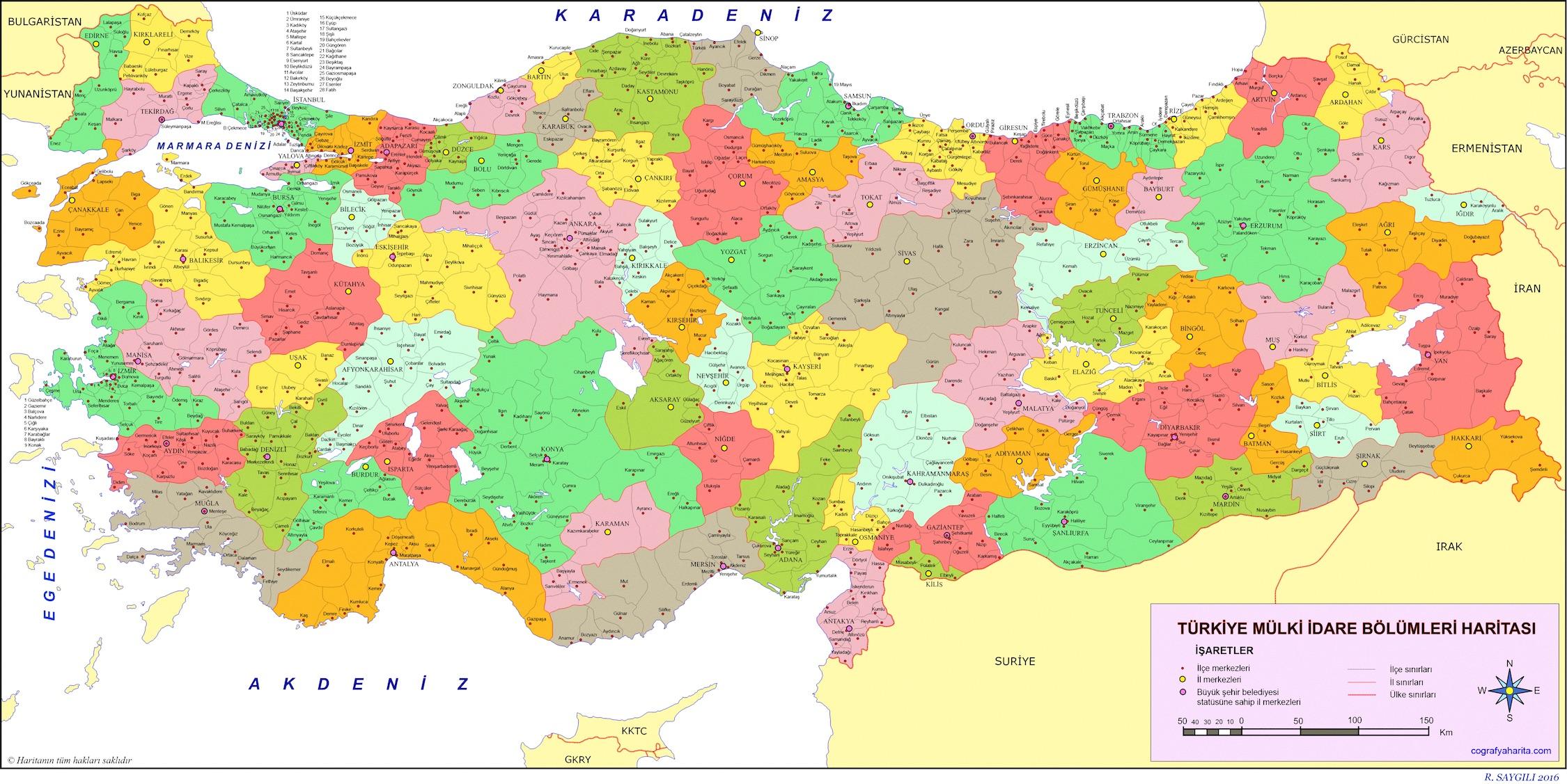 Provinces et districts de Turquie papiers peints photo 3D