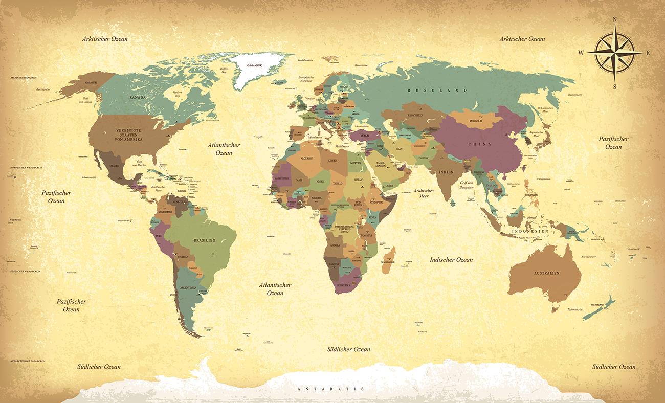 Carte en langue allemande papiers peints photo 3D