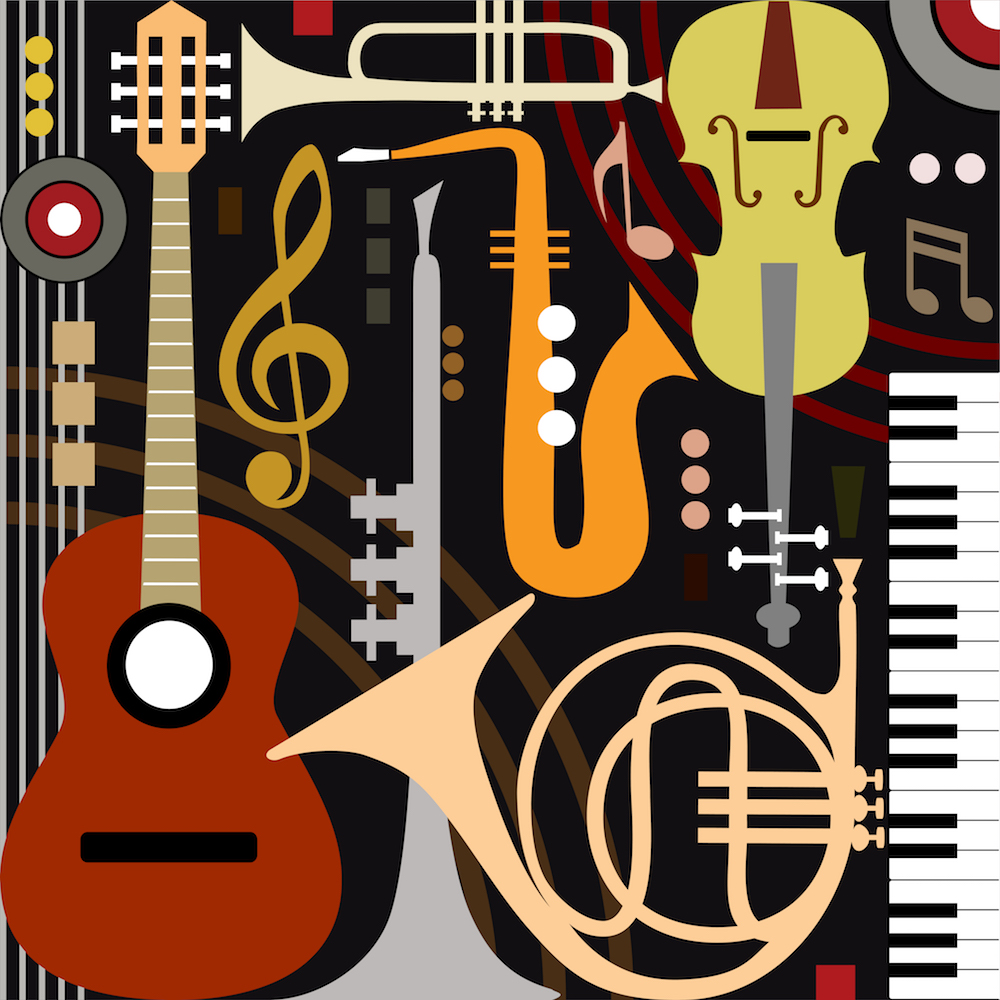 Thèmes de musique papier peint 3d