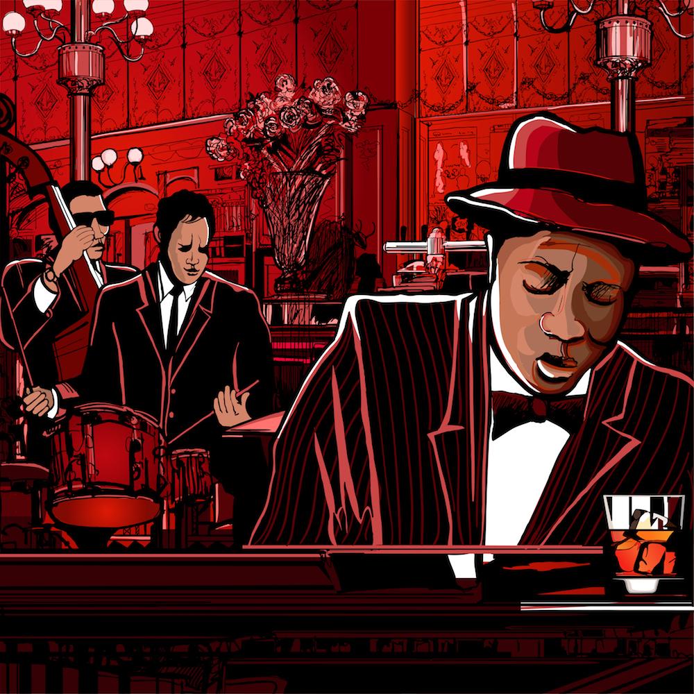 Jazz Bar papiers peints photo 3D