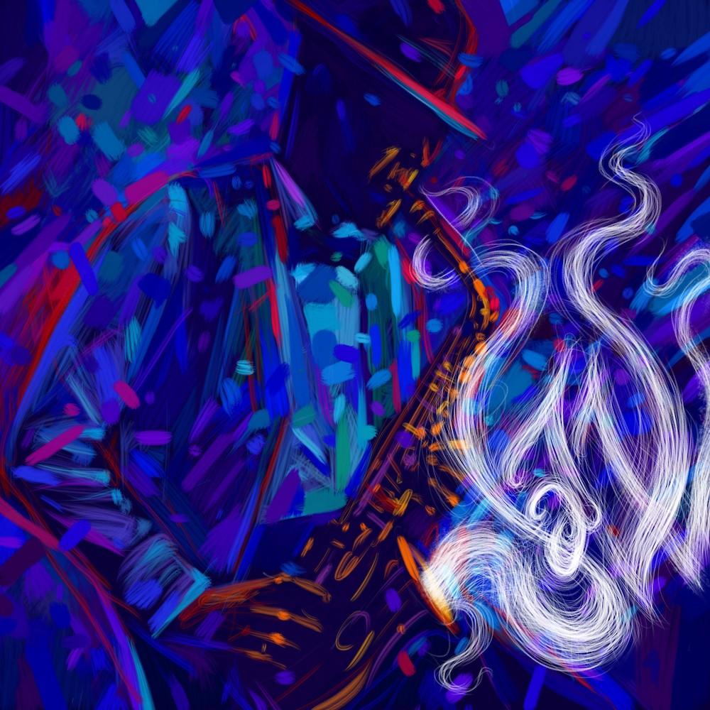 Art de style jazz papier peint 3d