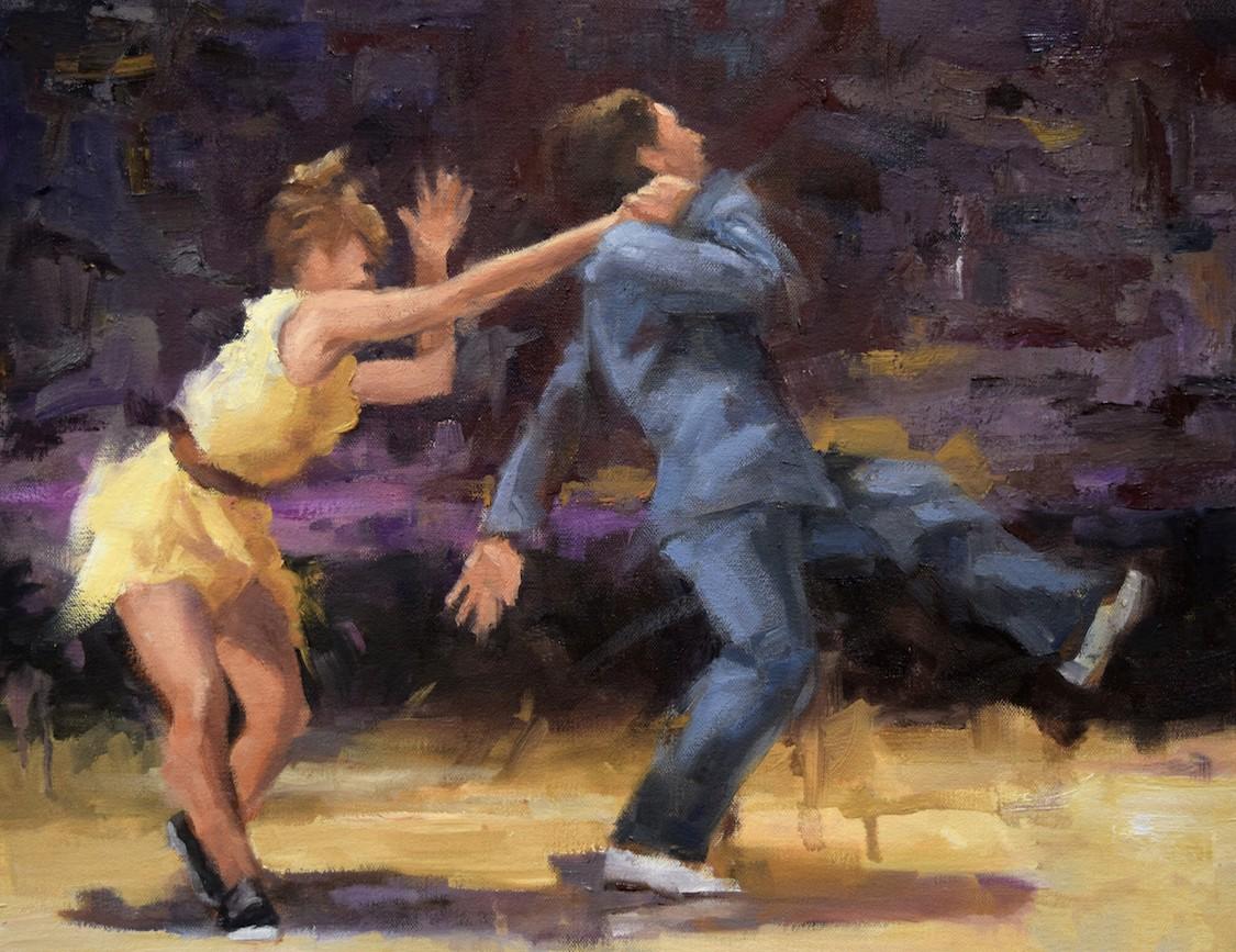 Danse swing tapisserie murale
