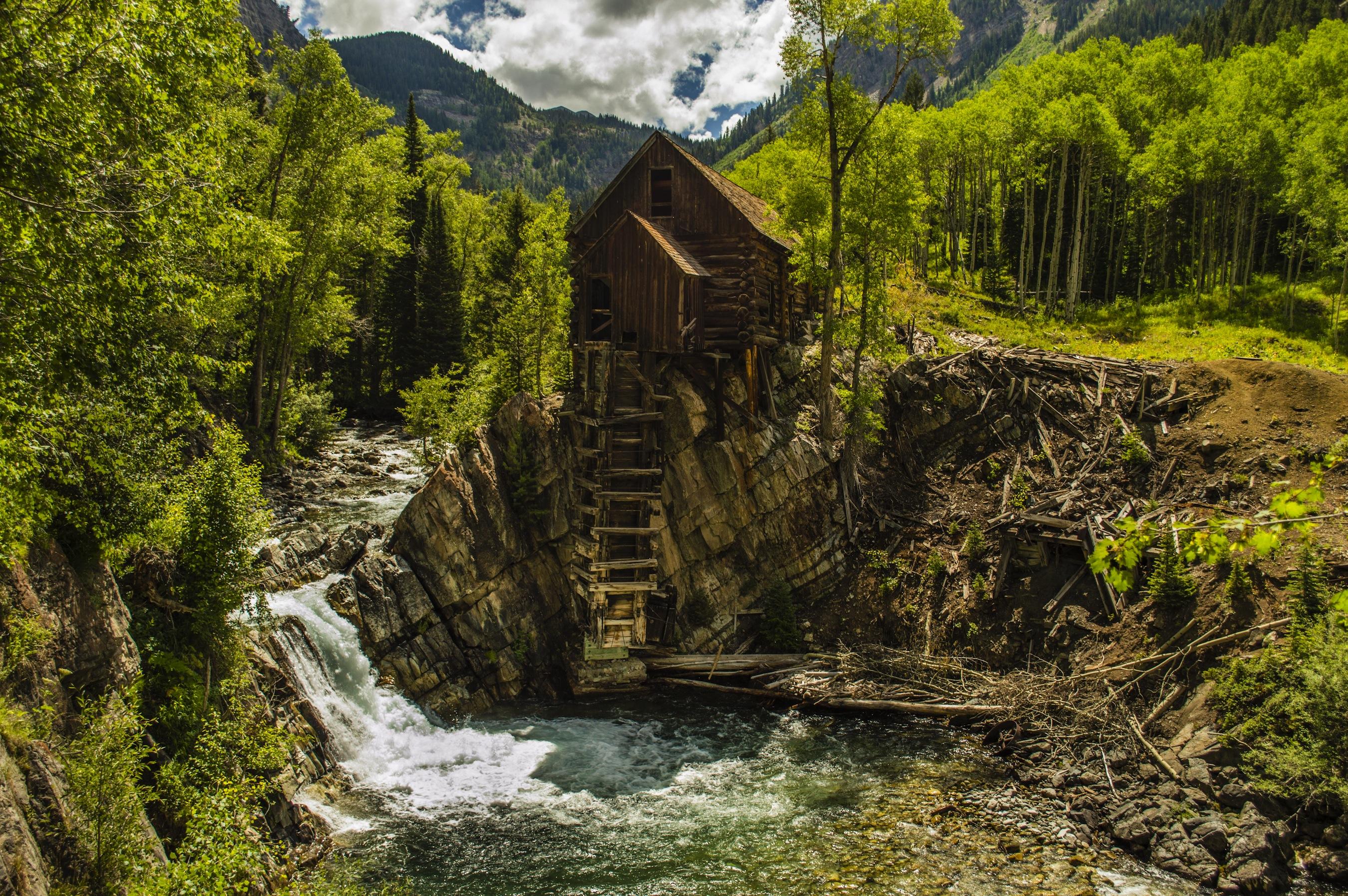 Waldhütte papiers peints photo appliqué sur le mur