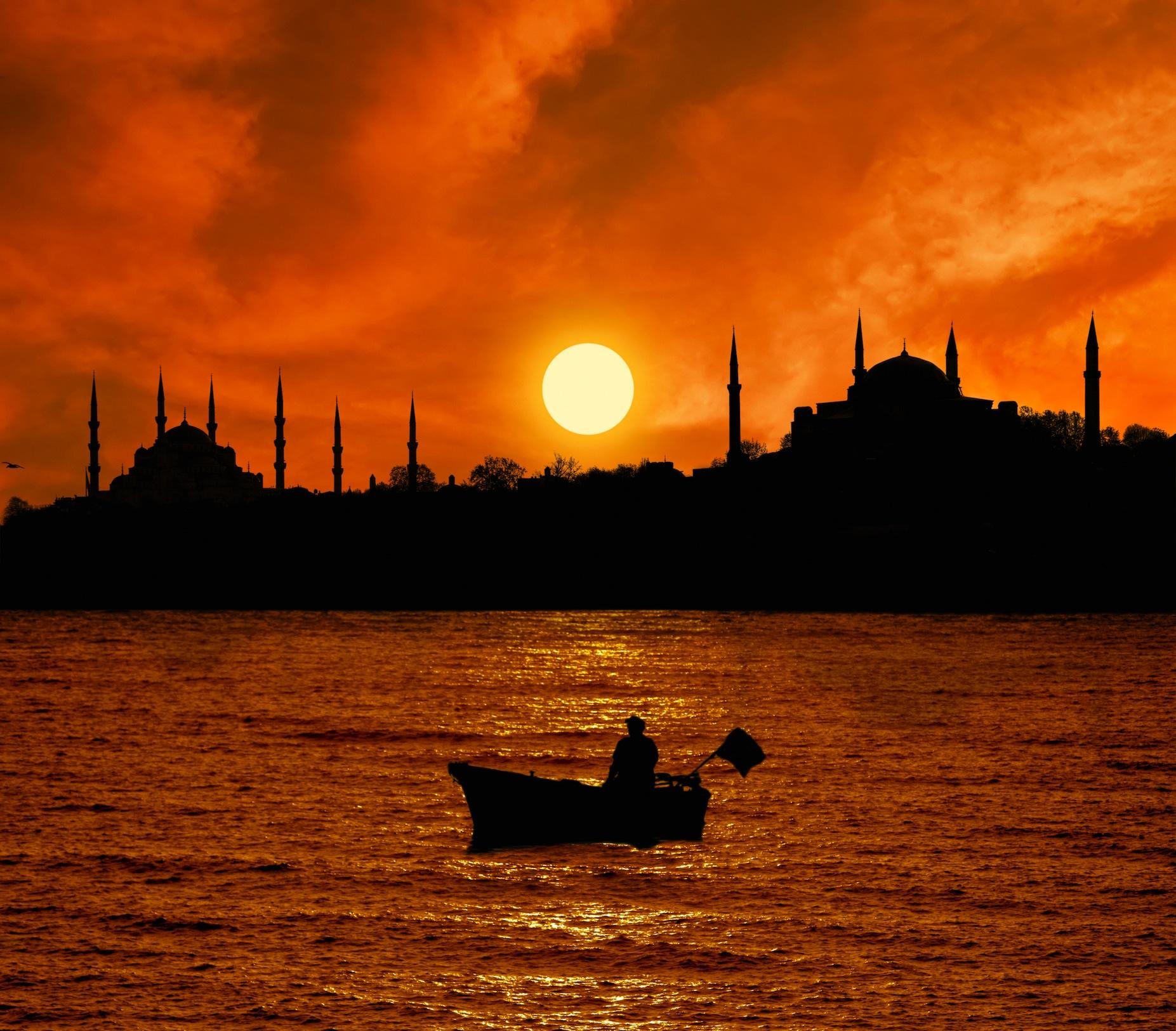 Toits d'Istanbul tapisserie murale