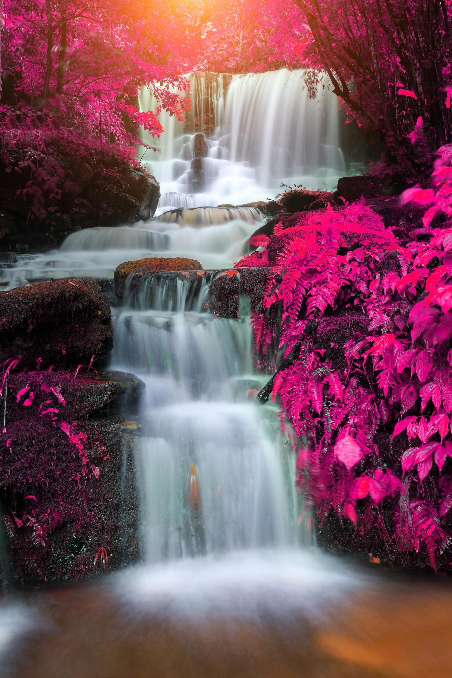 Cascade de Mun Daeng tapisserie