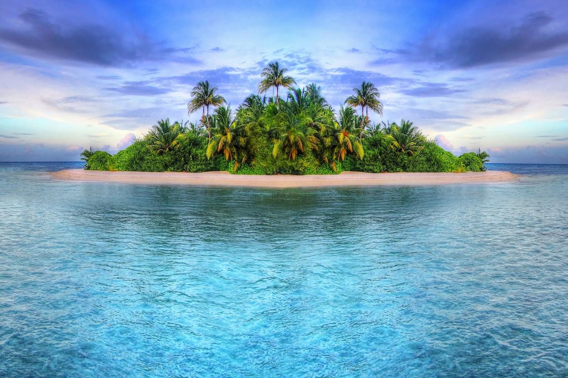 Île paradisiaque tapisserie murale
