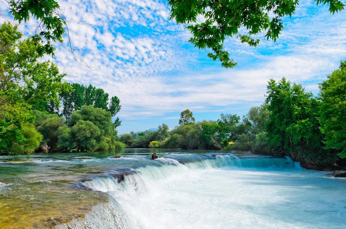 Photo de la nature de la cascade de Manavgat papier peint