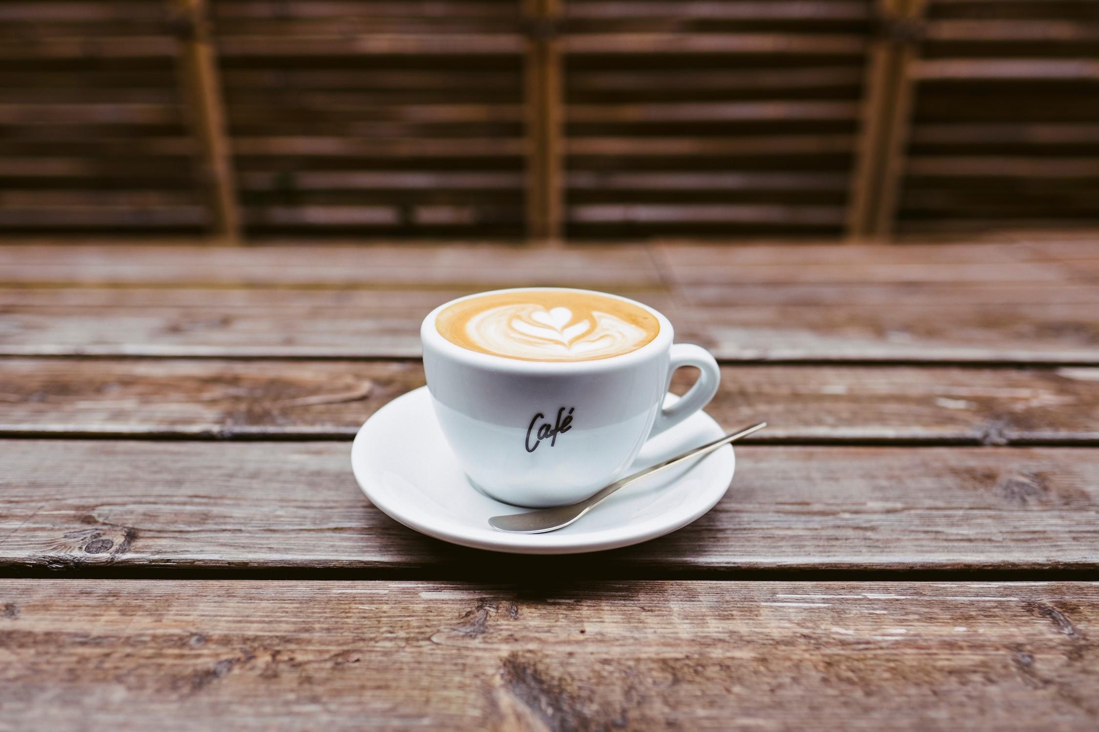 Envie d'un café chaud papier peint 3d