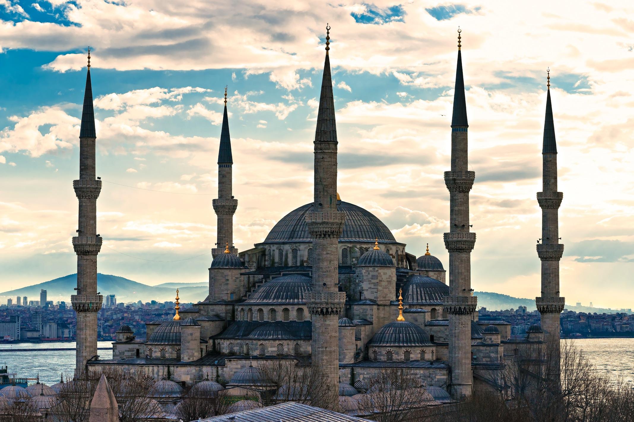Mosquée Sultan Ahmed papier peint appliqué sur le mur