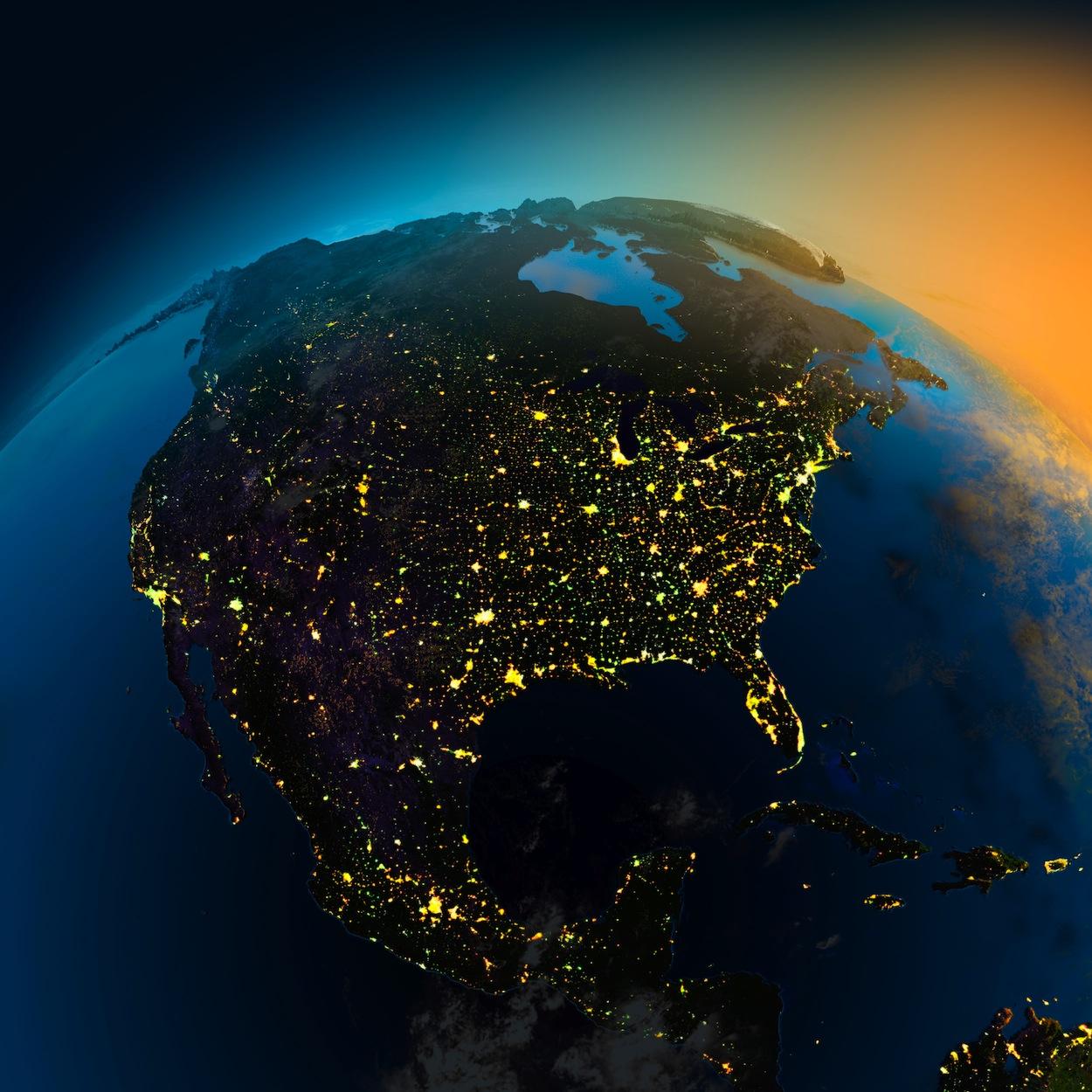 L'Amérique de l'Univers papiers peints photo 3D