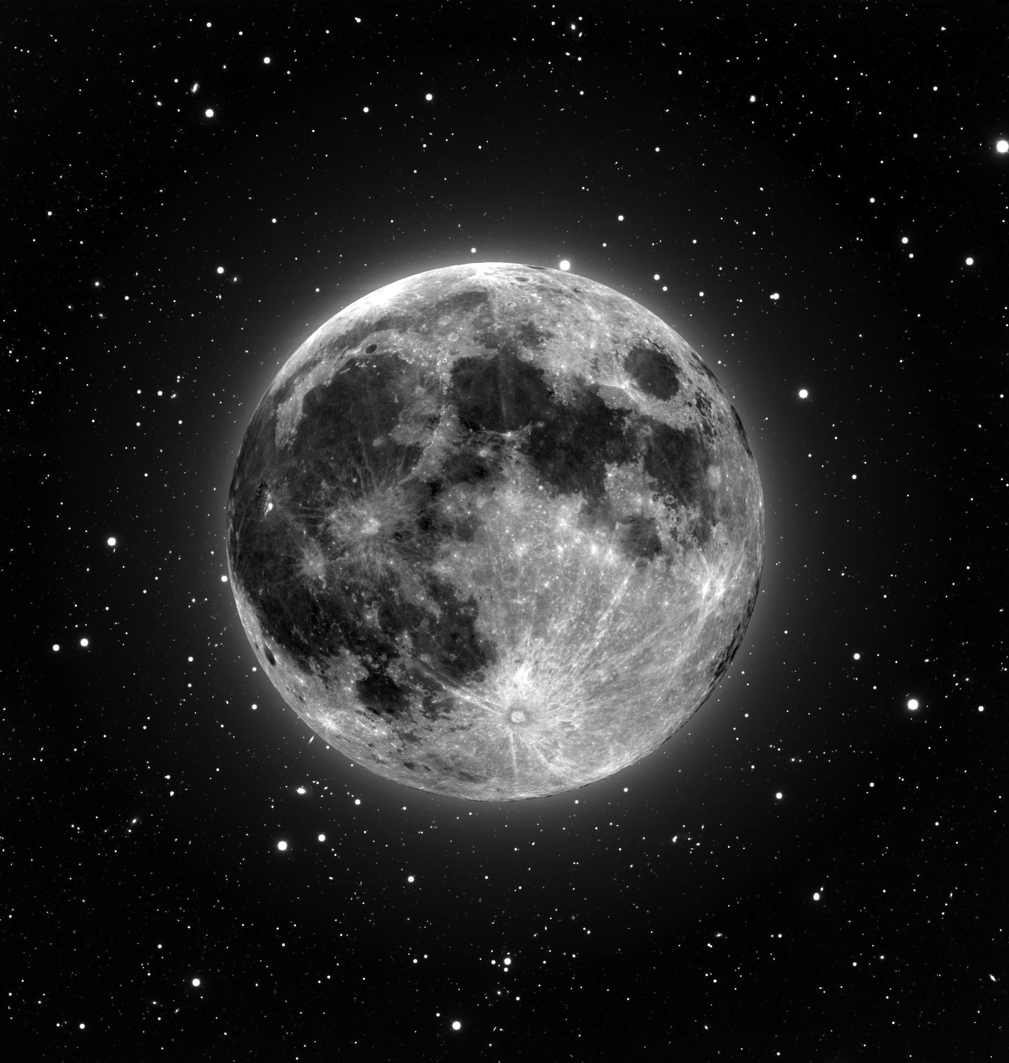 Lune et les étoiles tapisserie murale
