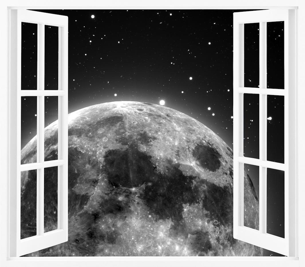 Montée de la lune papiers peints photo 3D