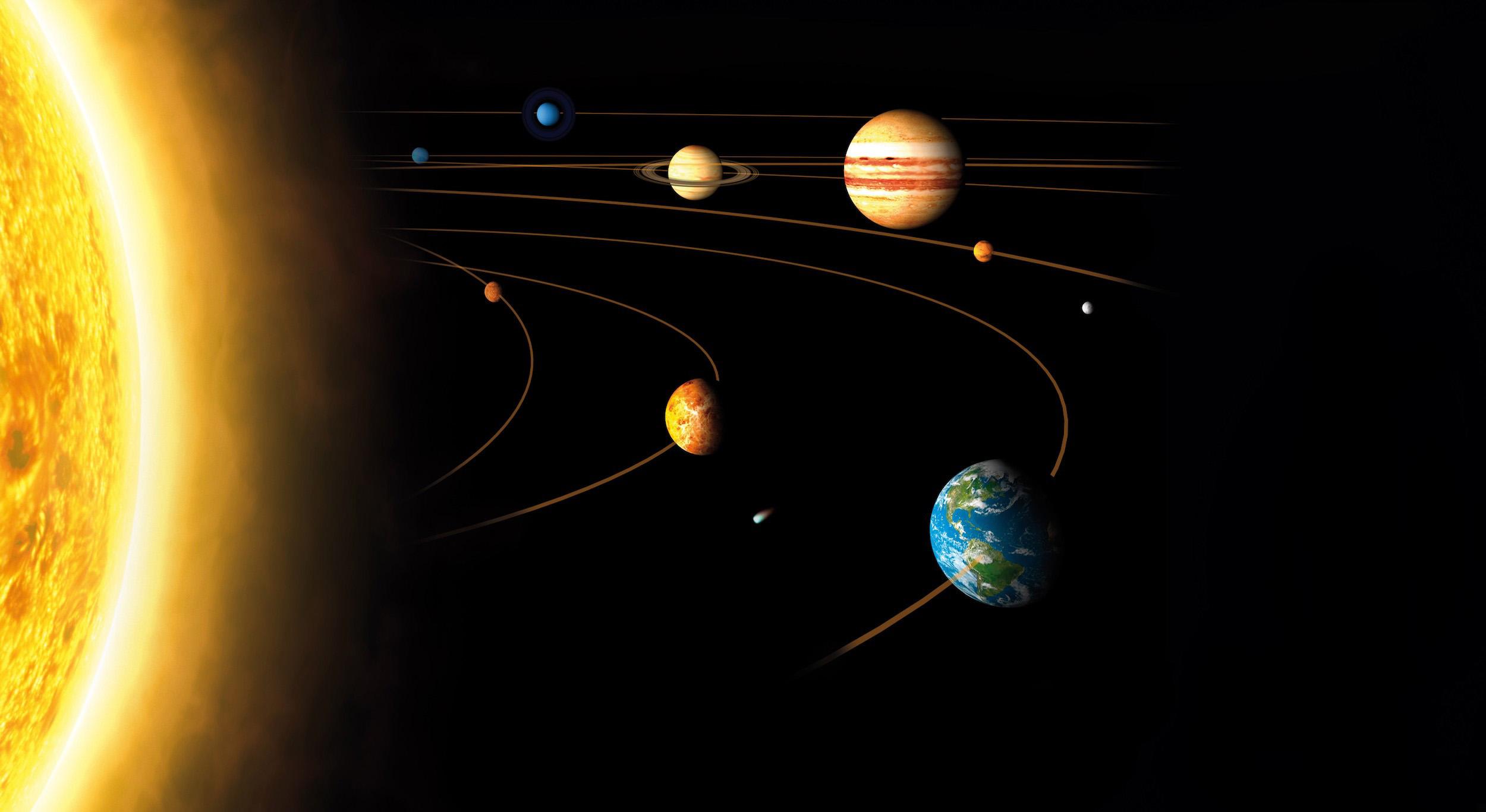 Du soleil aux planètes tapisserie