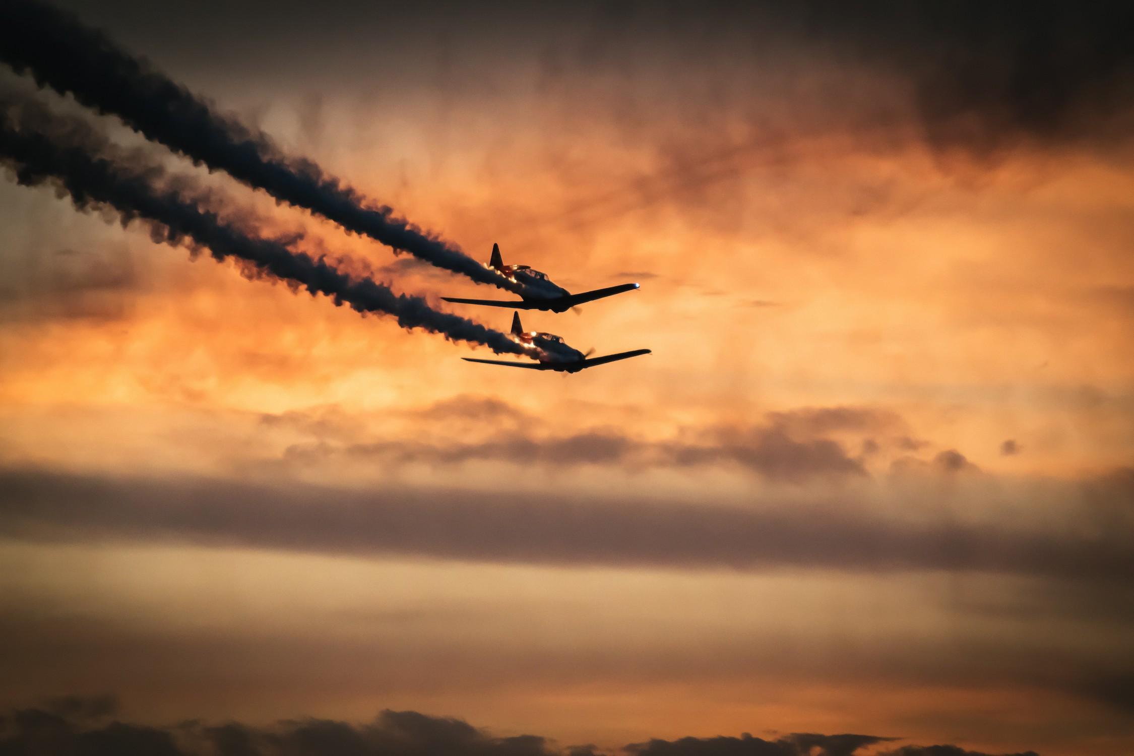 Danse des avions decoration murale