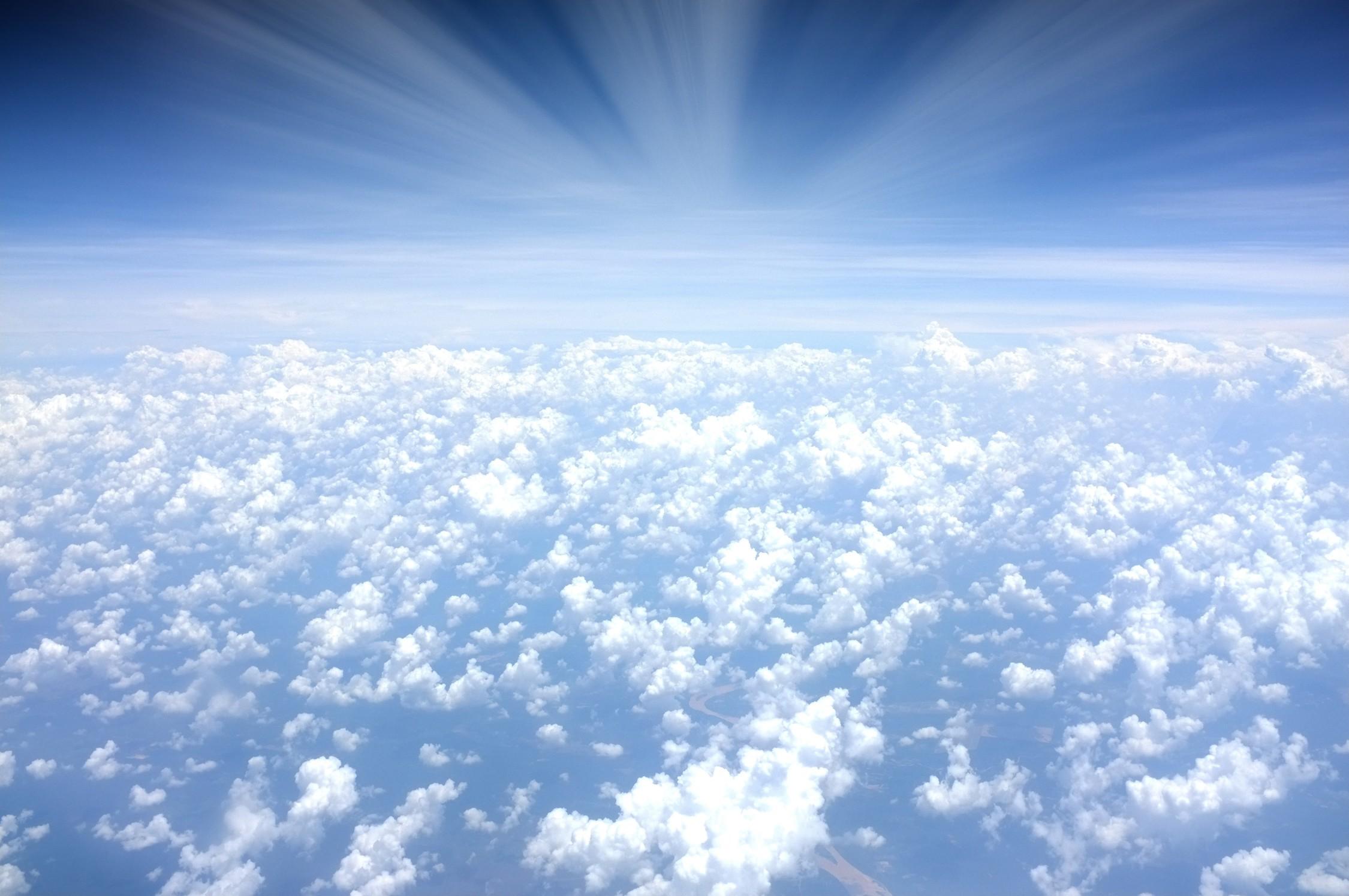 La beauté des nuages tapisserie murale
