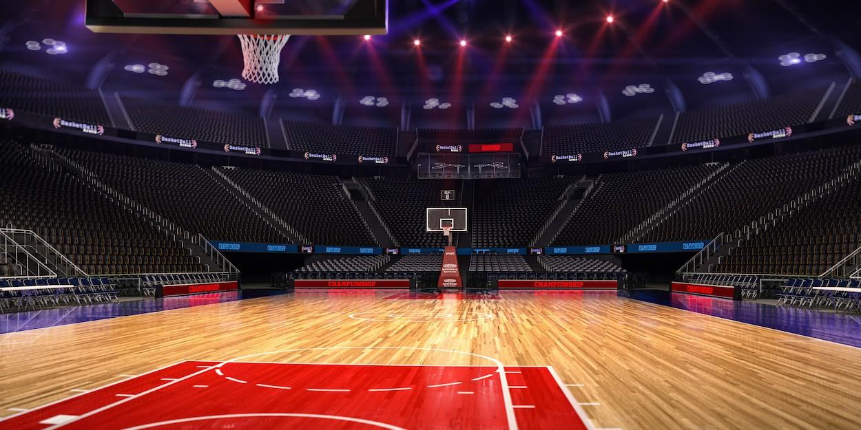 Terrain de basketball papiers peints photo 3D