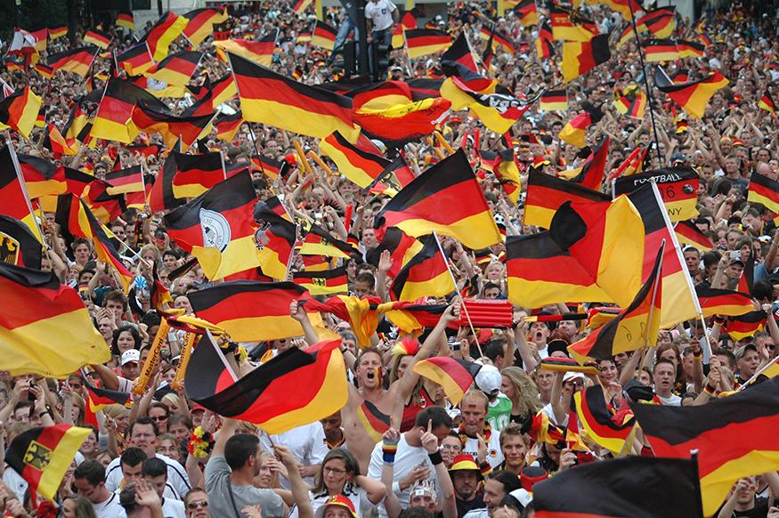 Allemagne Fans de football tapisserie