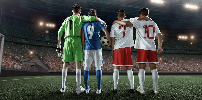 Équipe de football papier peint 3d