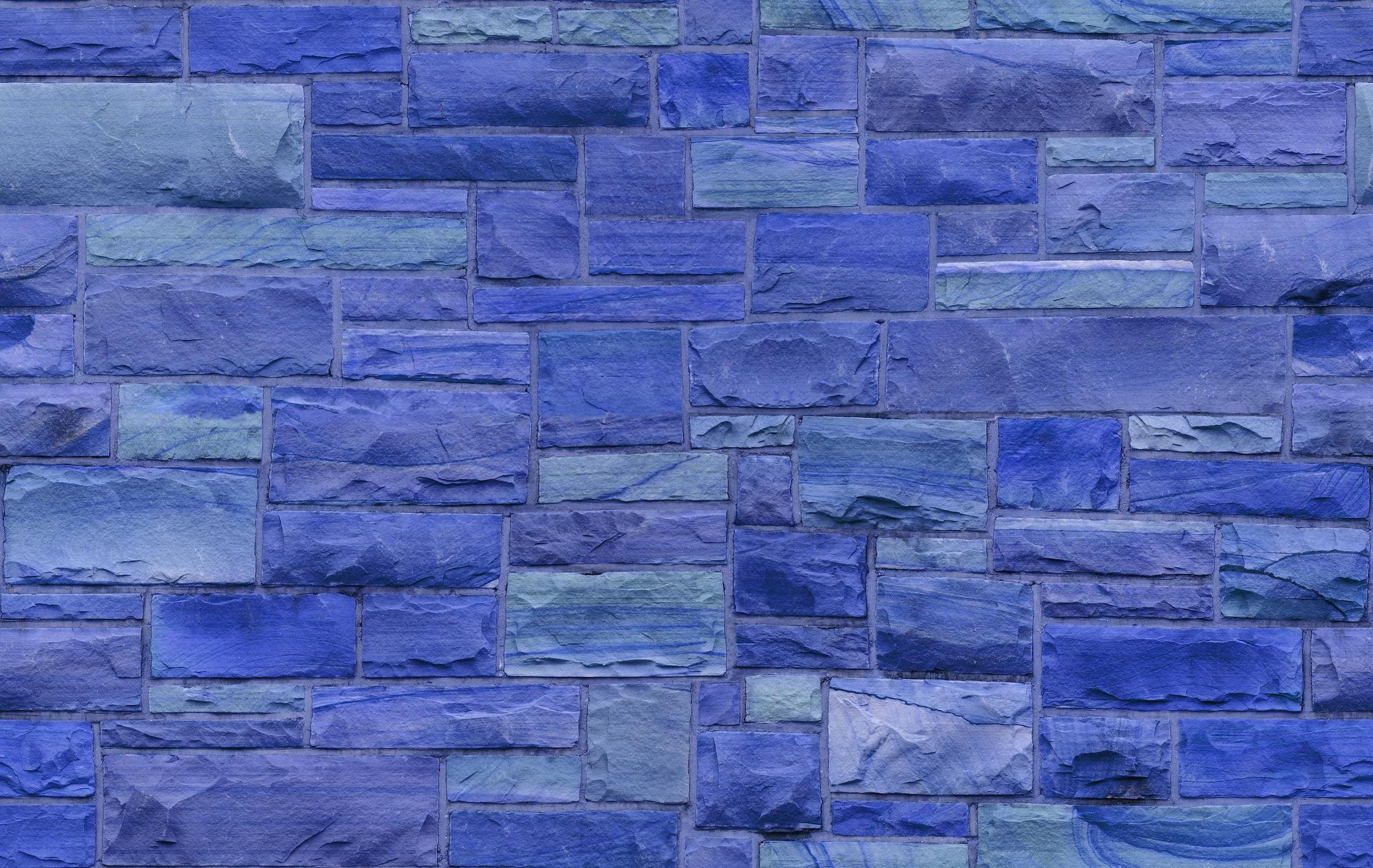 Mur de pierre bleue papiers peints photo 3D