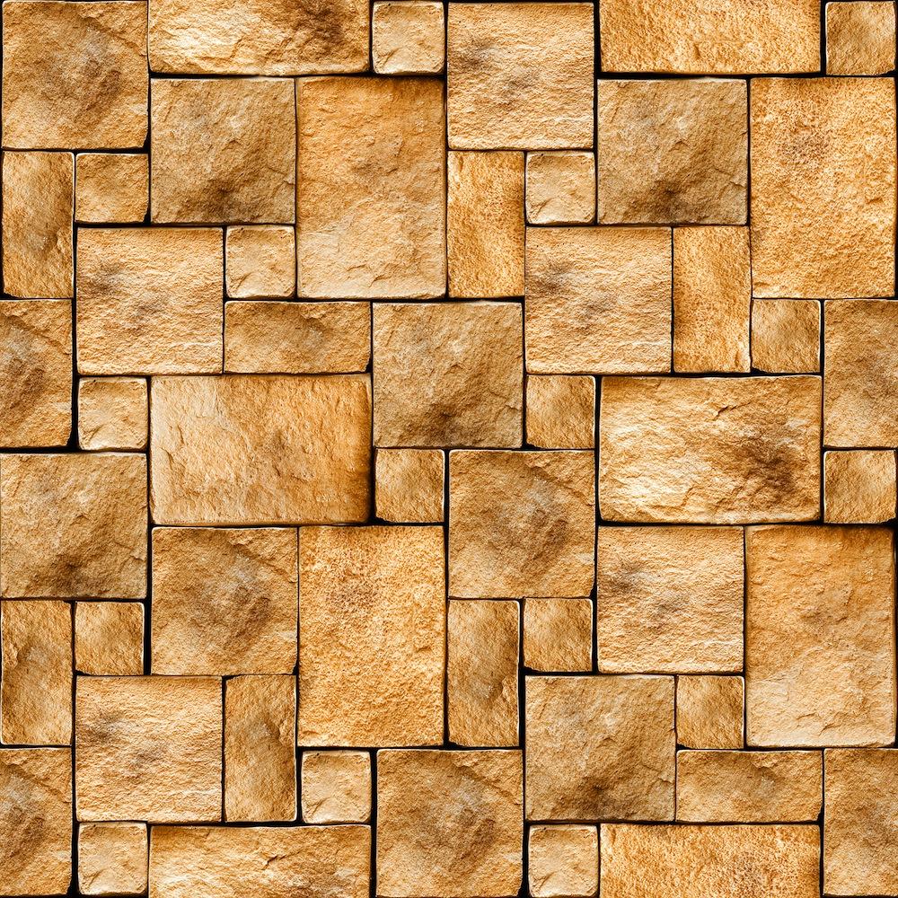 Mur de briques tapisserie