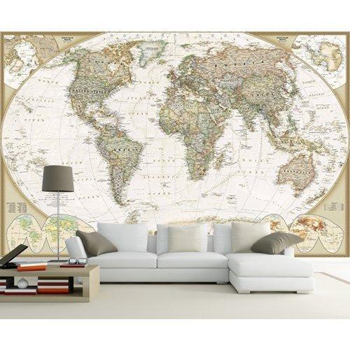 Papier peint décoratif carte du monde