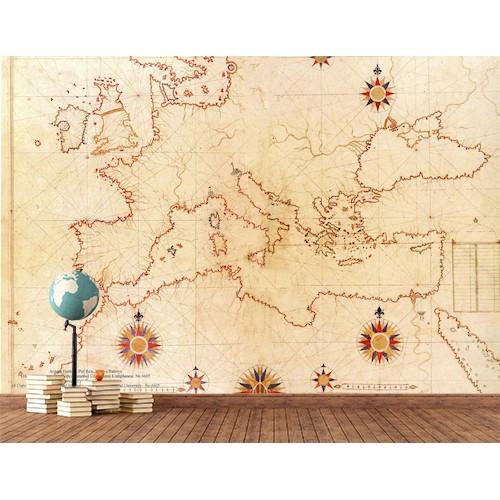 Papier peint de la carte européenne du 16ème siècle