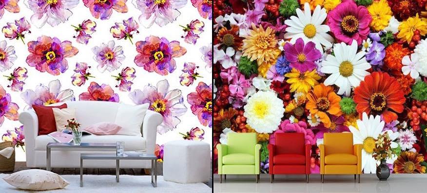 Papier Peint Floral Et Tapisserie Fleur