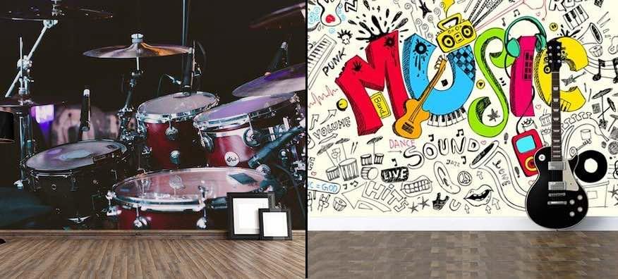 Papier Peint De Musique - Peintures Murales Musicales 3D